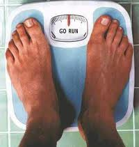 Scales showing GO RUN as the weight