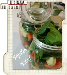 A jar full of salad - tres #foodwanker!